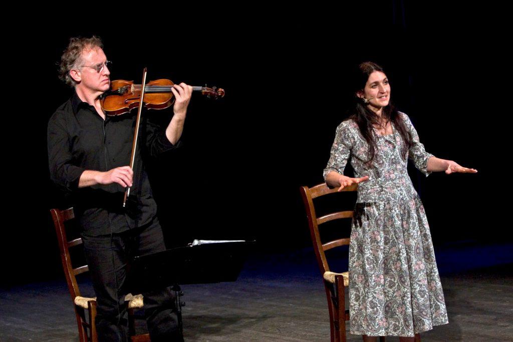 Elisabetta Salvatori e Matteo Ceramelli al violino
