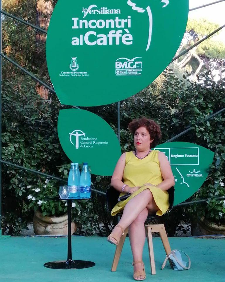silvia ceriegi ospite caffe della versiliana marina di pietrasanta estate 2019