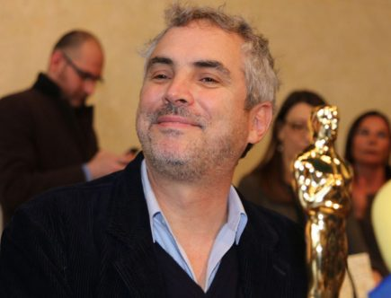 Alfonso Cuaron con l Oscar in municipio a Pietrasanta