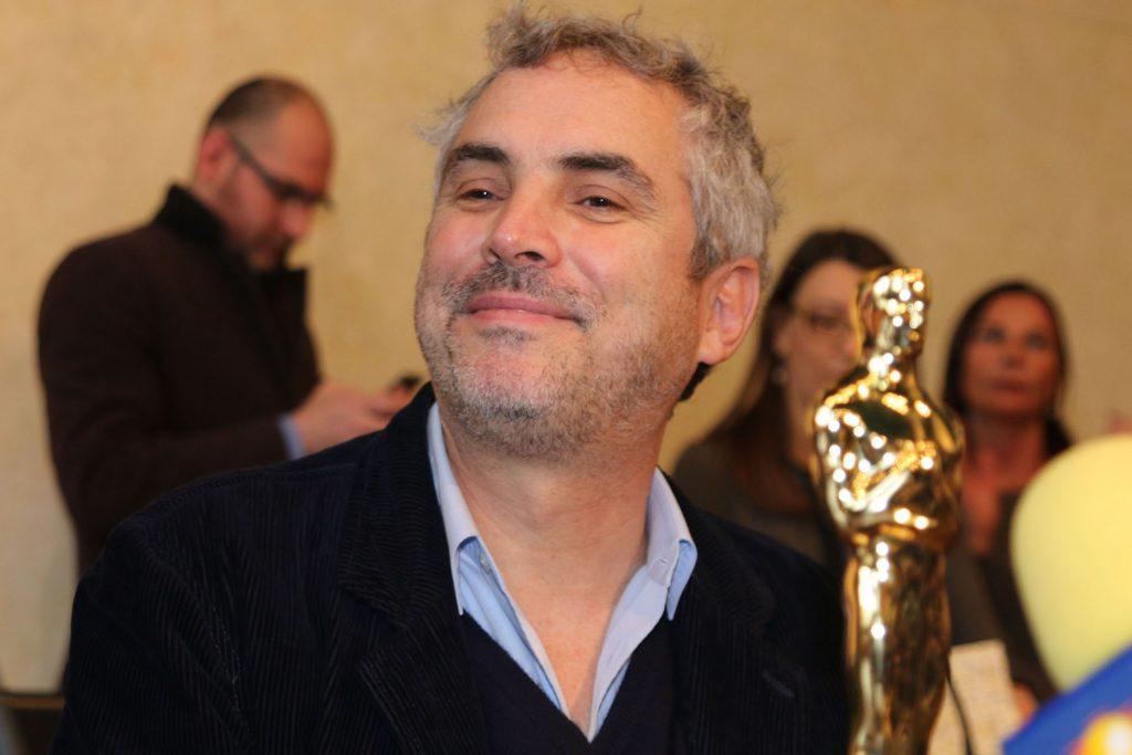 Alfonso Cuarón con l'Oscar in Municipio a Pietrasanta