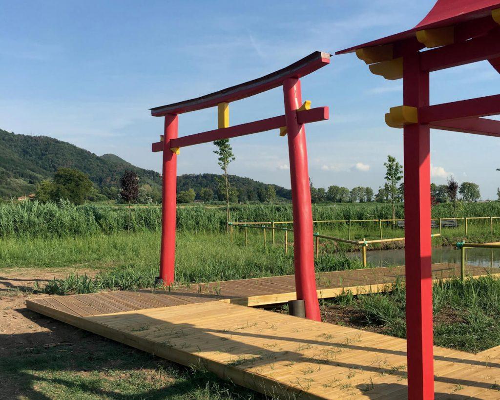 22 podere lovolio massarosa fondazione pomara scibetta l'arco di ingresso alla pagoda galleggiante