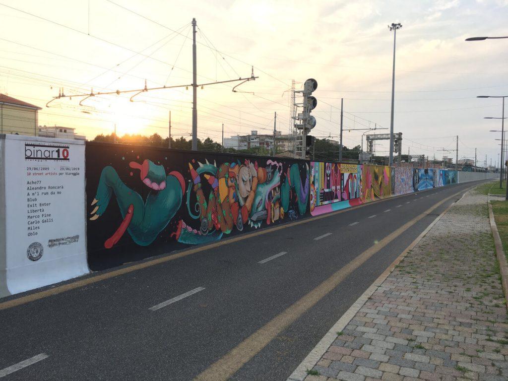 23 binario 10 Viareggio il murale finito ok