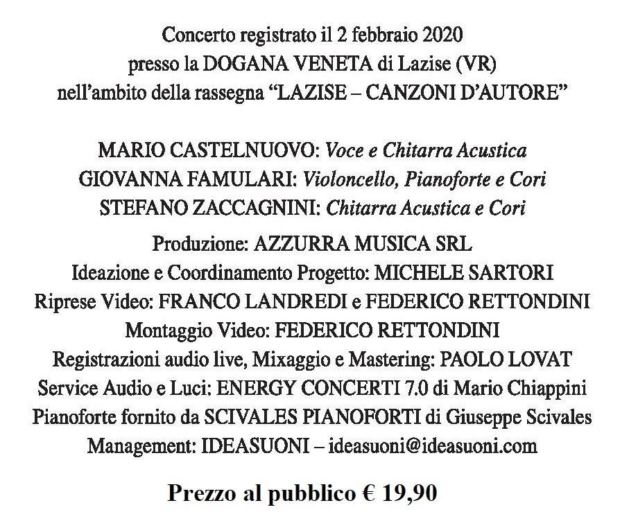 Mario Castelnuovo crediti dvd