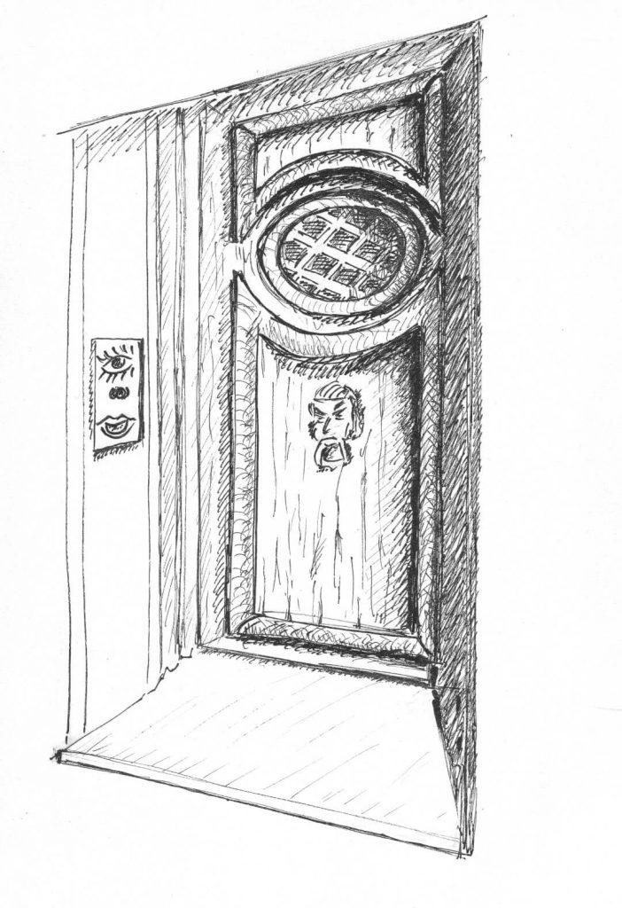 """""""Visioni"""" di Marcella Malfatti illustrazione del racconto """"La porta sul sogno"""""""