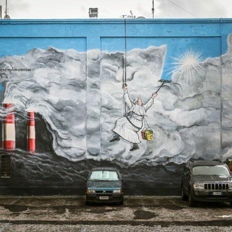 maupal murale dedicato al papa e alla laudato si albano laziale
