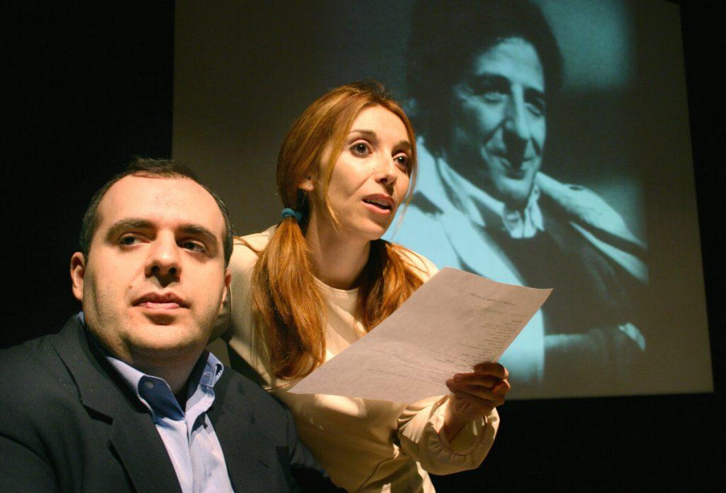 Andrea Pedrinelli con Rossella Rapisarda portando Gaber nelle scuole